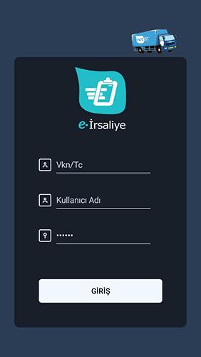e-irsaliye mobil uygulama ana ekran görüntüsü