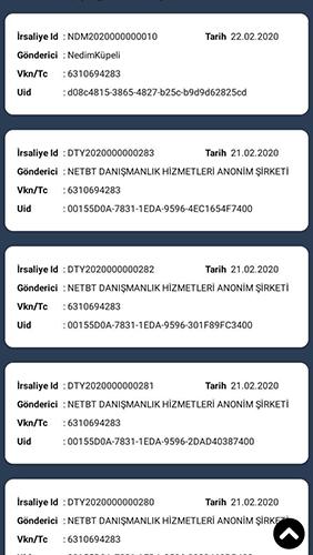 e-irsaliye mobil uygulama ekran görüntüsü